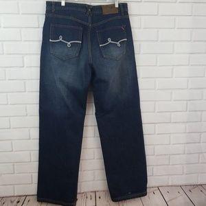 Lrg Button Fly Dark Wash Cotton Denim Jeans